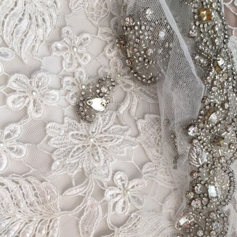 Lace & Beaded Fabric