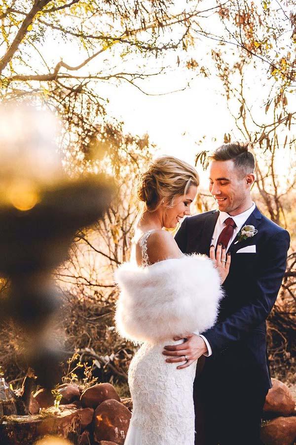 Samantha - Marabou Stole | Lacework Wedding Dress