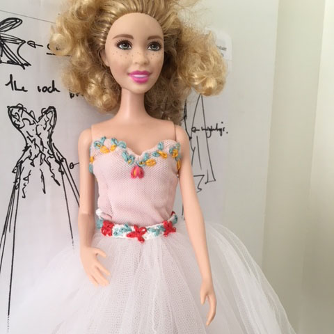 Sample Barbie Doll Dress