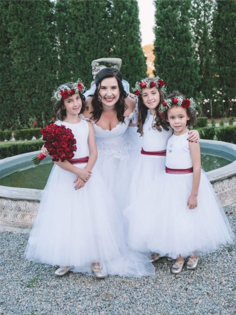 Bride & 3 Flower Girls