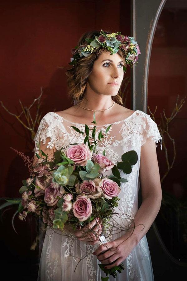 Chané - Boho Style Lace Wedding Dress